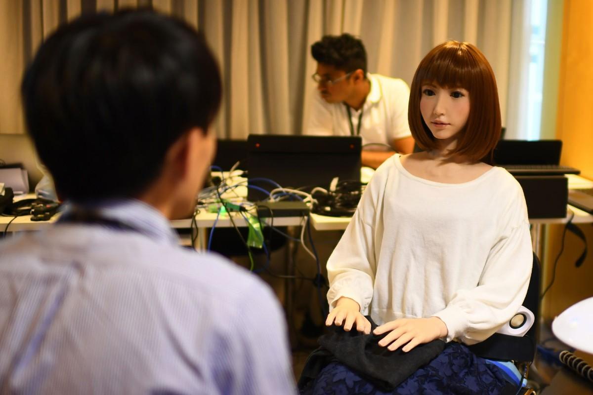 Robot Protagoniza Película Ciencia Ficción Erica Inteligencia Artificial