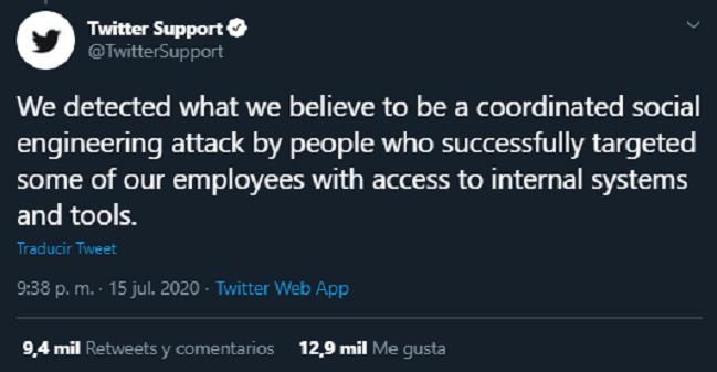 Ataque Masivo Twitter