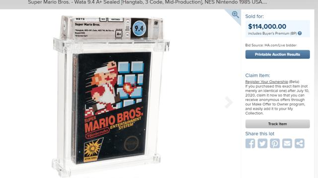Super Mario Bros mas caro de la historia