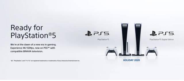 Televisores Sony Ready for PlayStation 5