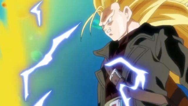 Trunks se convirtió a Super Saiyajin Fase 3 en Super Dragon Ball Heroes