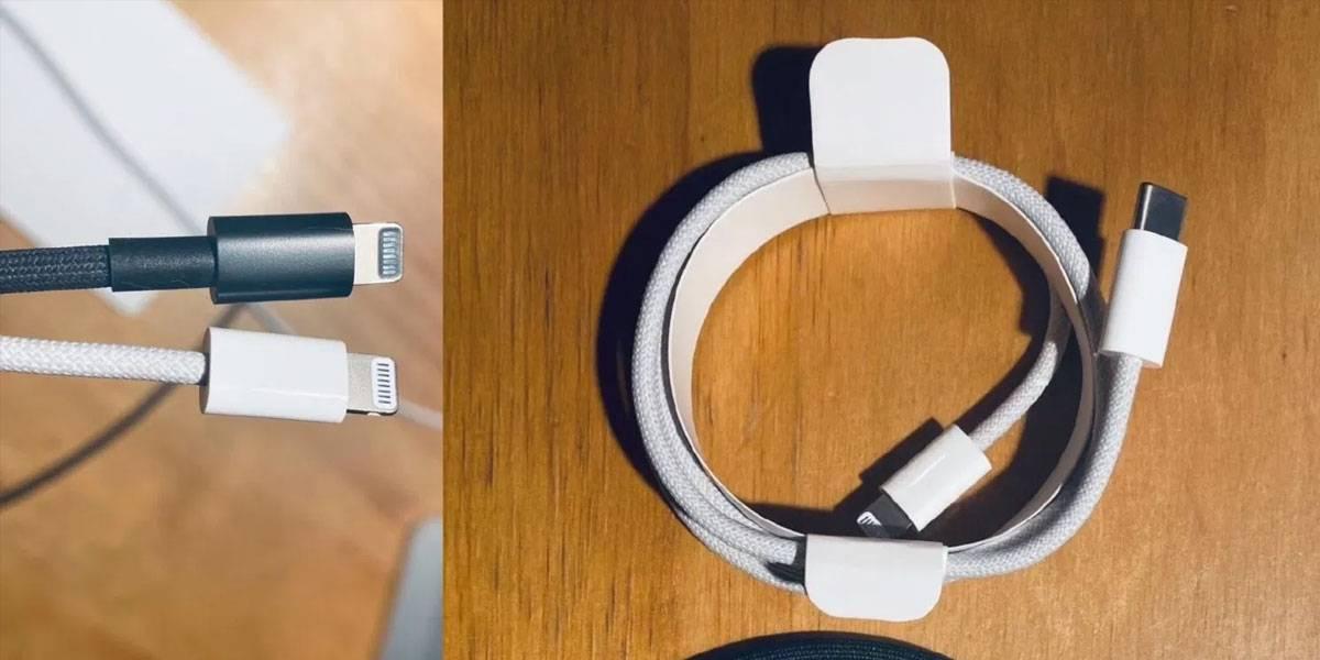 Presunto  cable Lightning que podría usar el iPhone 12