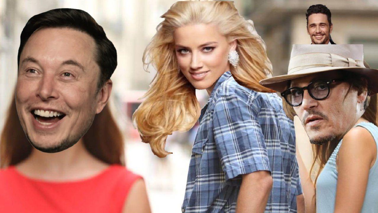 Johnny Depp, Amber Heard, Elon Musk, James Franco