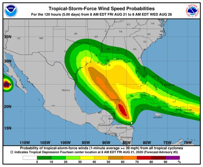 2 huracanes podrían formarse al mismo tiempo en el Golfo de México