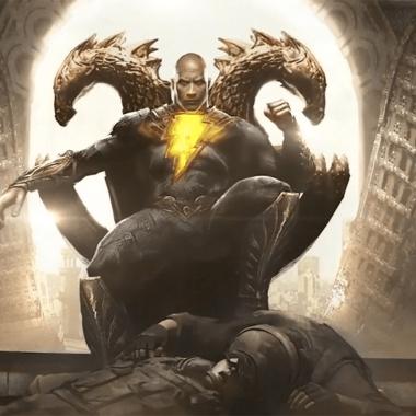 Dwayne Johnson Black Adam arte conceptual