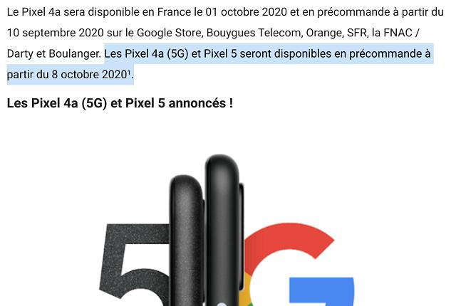 Fecha Lanzamiento Pixel 5