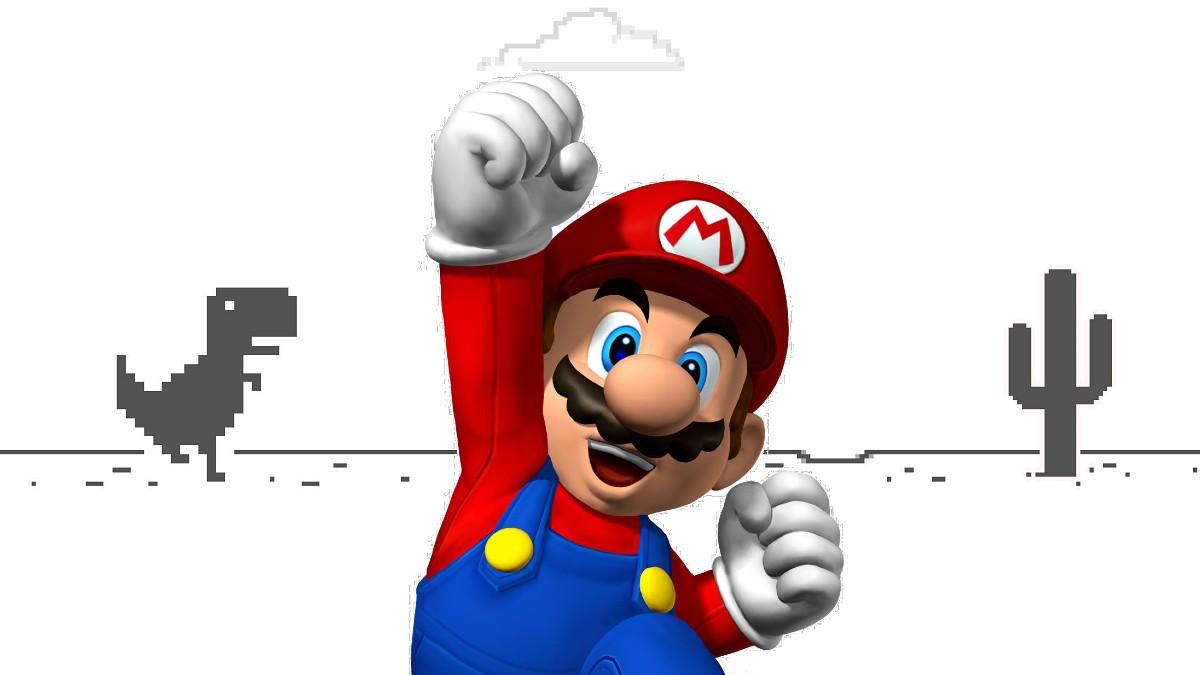 Mario Bros. Dinosaurio Google Chrome
