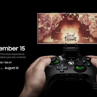 Samung Galaxy Note 20 Xbox Games Pass