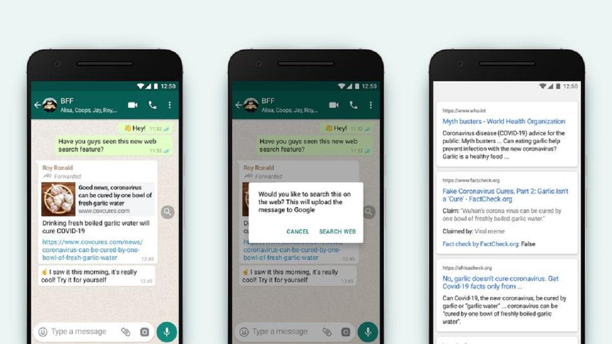 WhatsApp Mensajes Reenviados