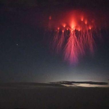 """Espectro rojo: el fenómeno que formó """"medusas"""" en el cielo"""