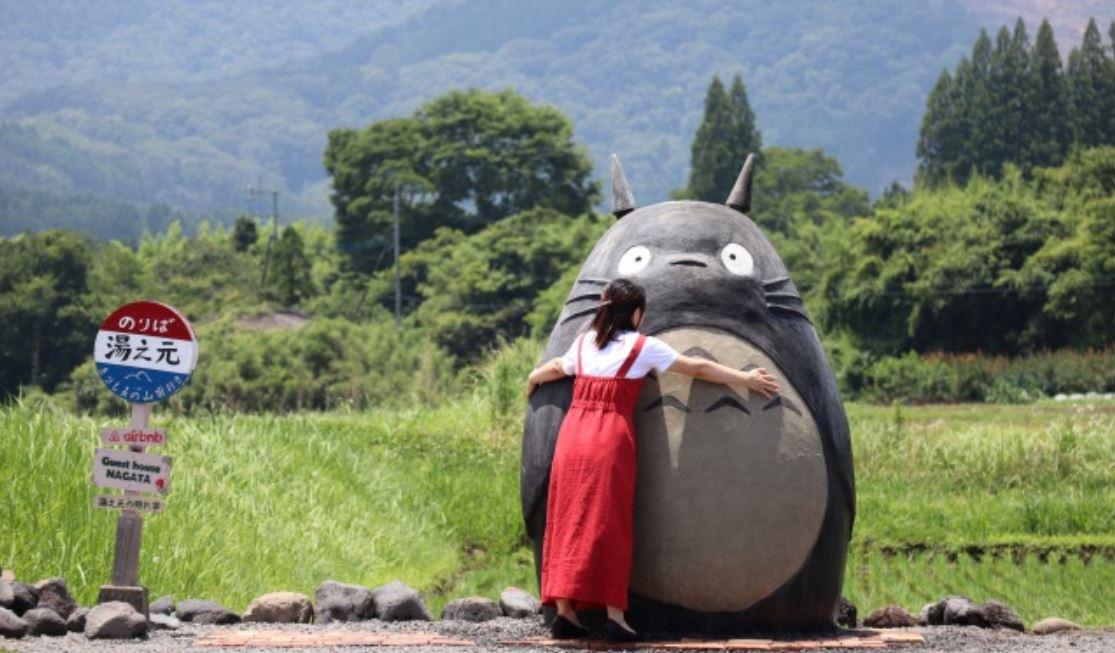 Abuelos construyen Totoro gigante para celebrar sus 70 años