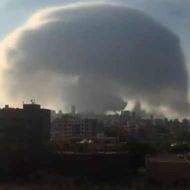Explosión en Beirut: por qué formo nube con forma de hongo