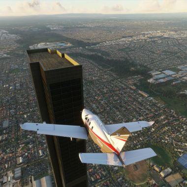 Un typo provoca un edificio de 212 pisos en Microsoft Flight Simulator