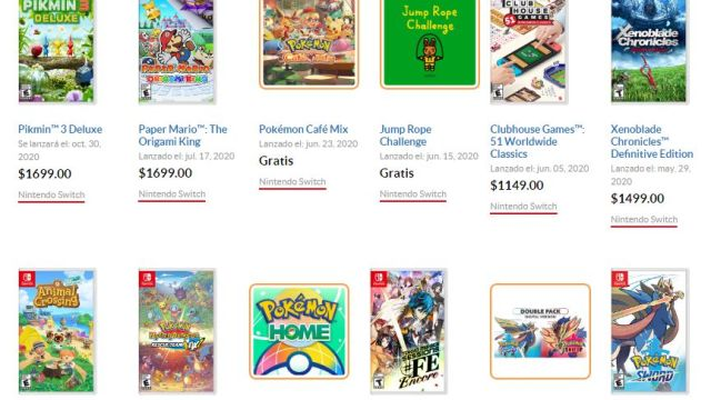 Nintendo aumenta precio a juegos de Switch en México