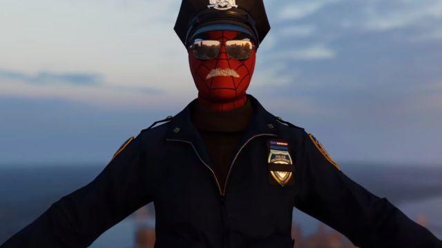 Spider Cop Marvel Spider Man PS4