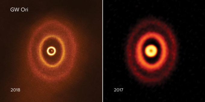Descubren un nuevo sistema solar con tres soles desgarrándolo en su centro