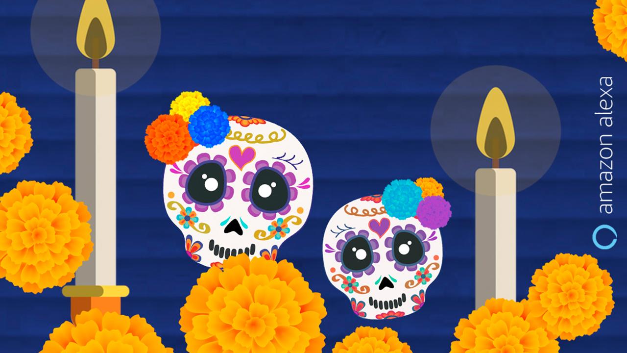 Día de muertos y Halloween en Alexa de Amazon