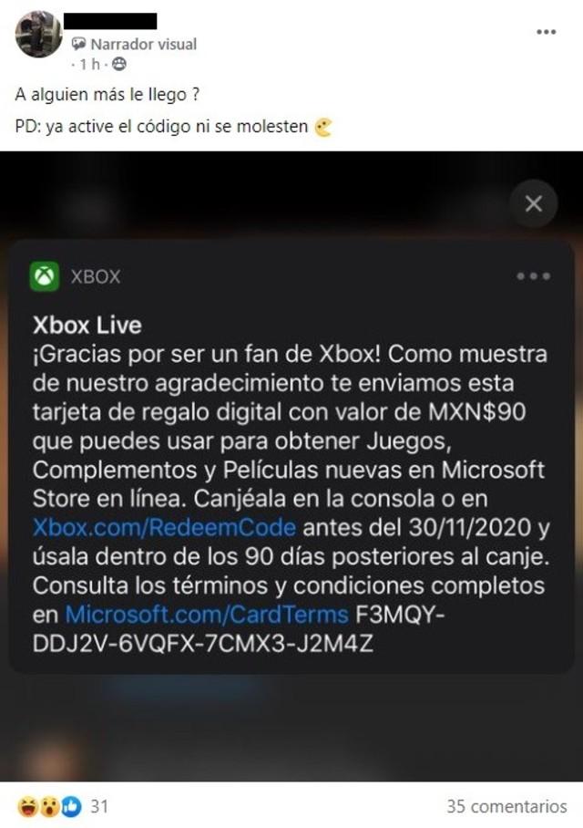 Xbox Códigos Gratis
