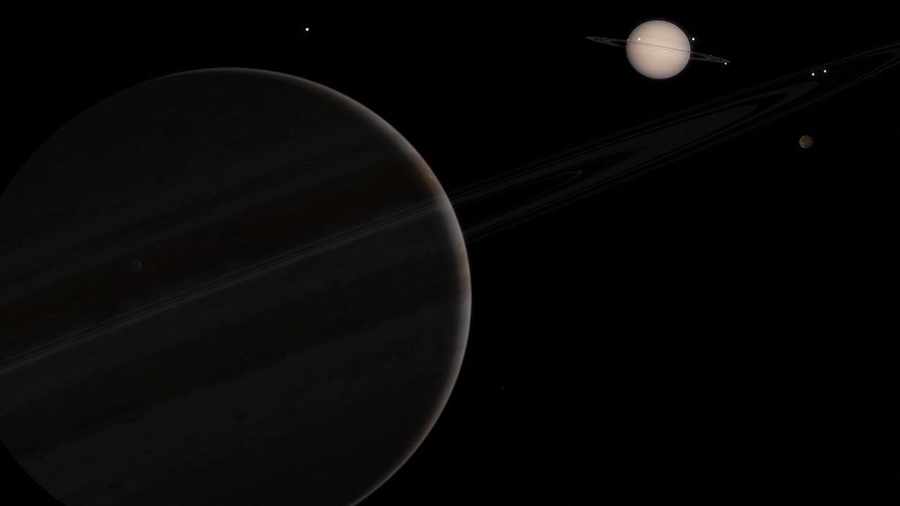 Júpiter y Saturno se alinearán por primera vez en 800 años