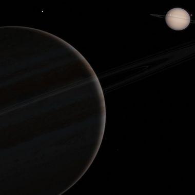 Conjunción de Júpiter y Saturno