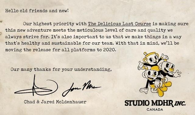 Studio MDHR retrasa DLC Cuphead