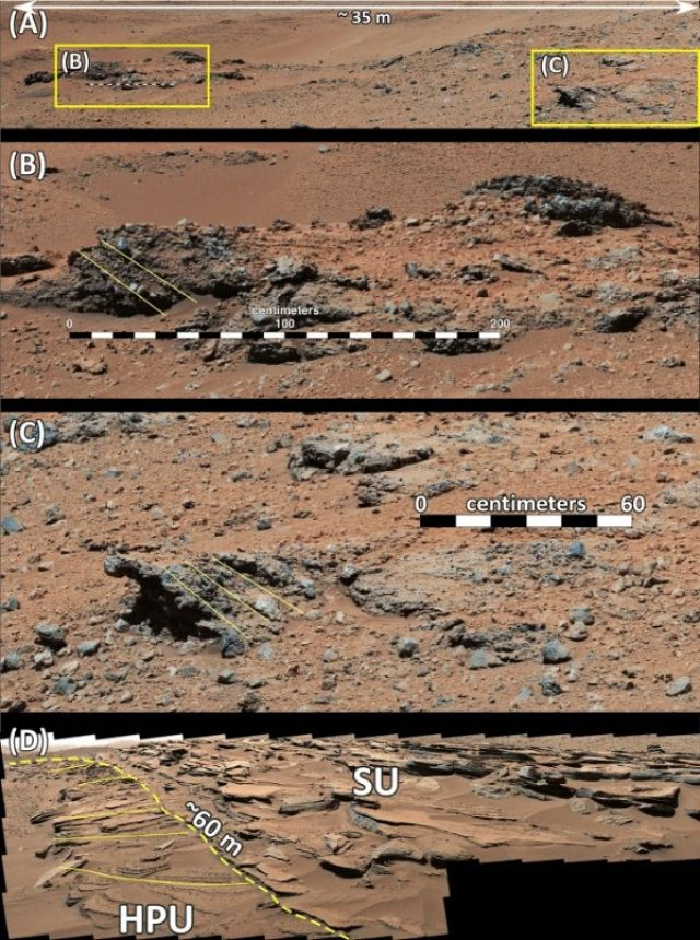 Curiosity halló evidencia de catástrofes en Marte