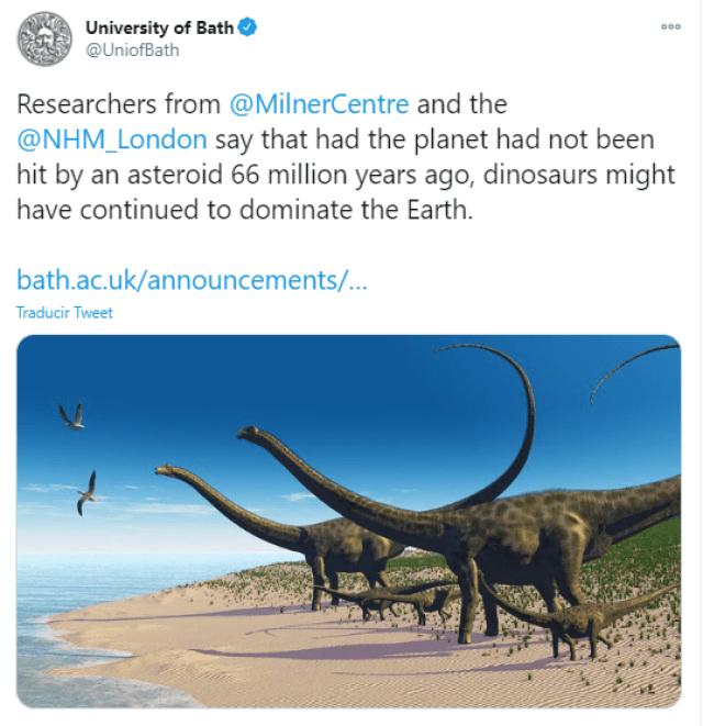 Dinosaurios seguirían dominando la Tierra