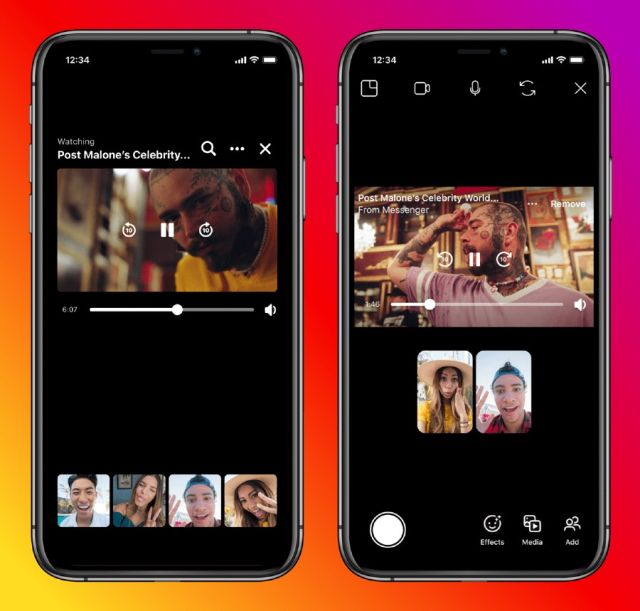 Nuevas funciones de Instagram y Messenger