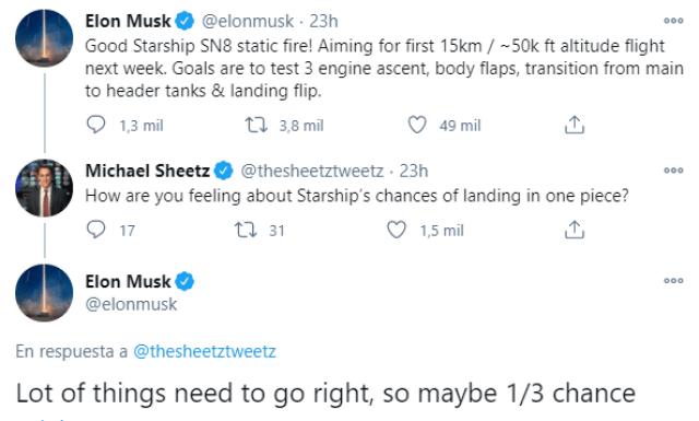 SpaceX lanzará su nave Starschip