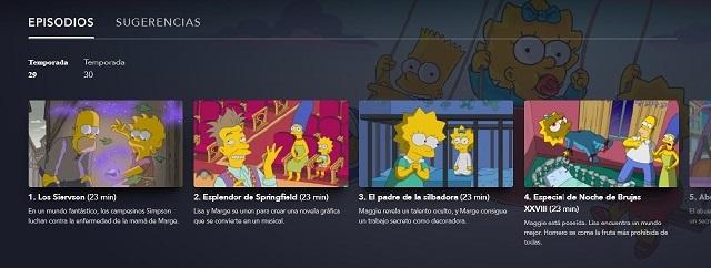 Temporadas Los Simpson Disney+