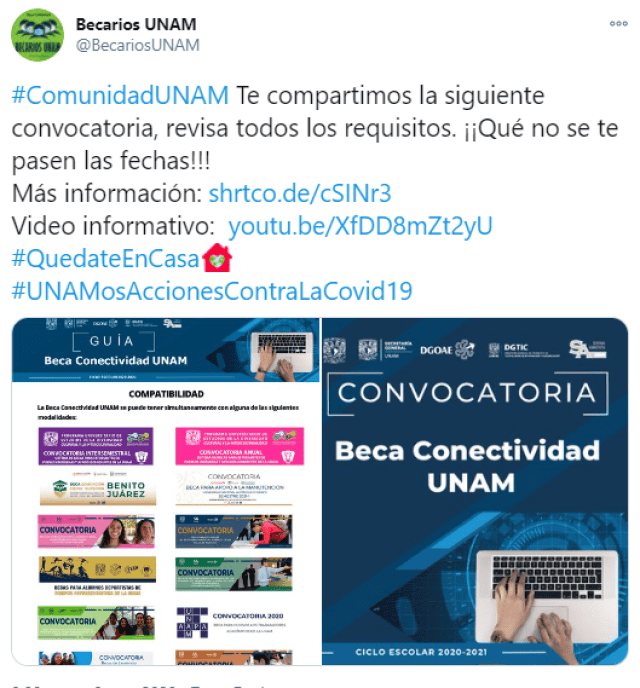 Beca Conectividad de la UNAM