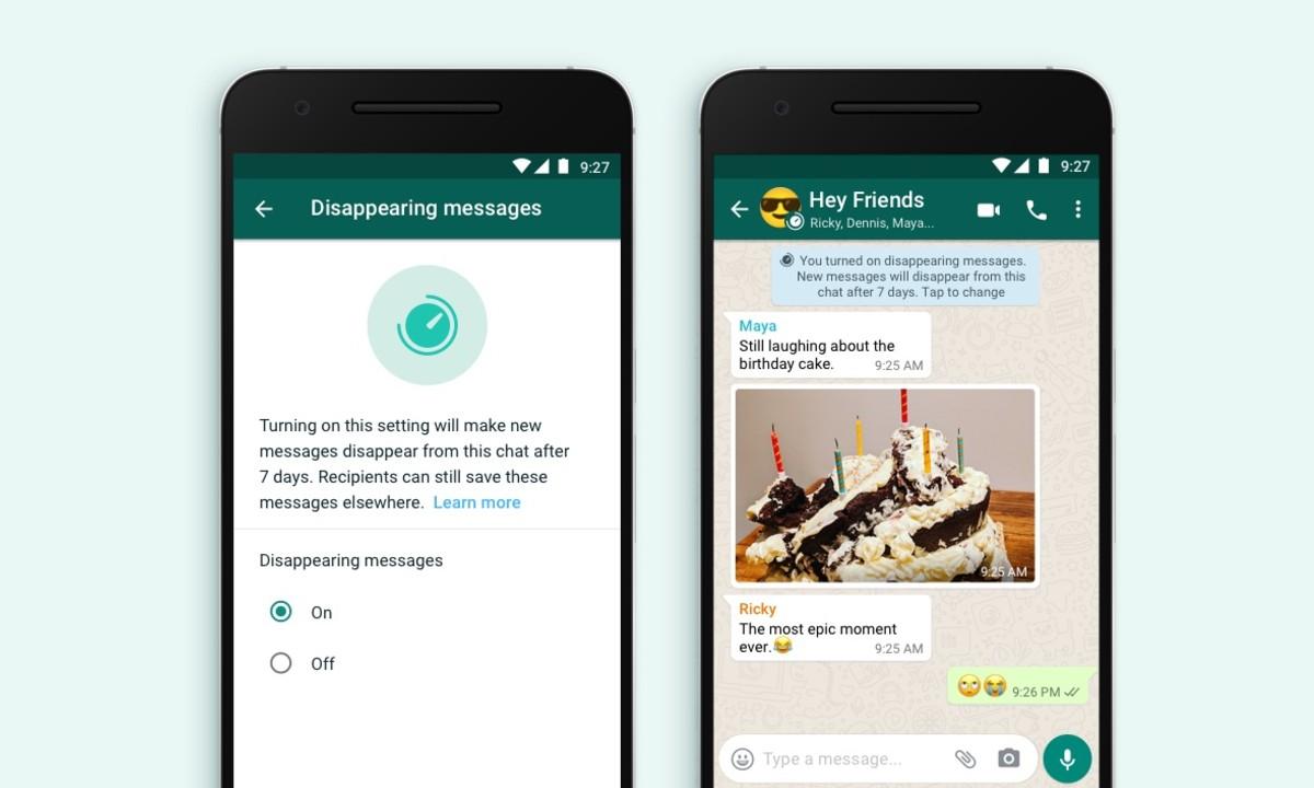 WhatsApp mensajes autodestructivos