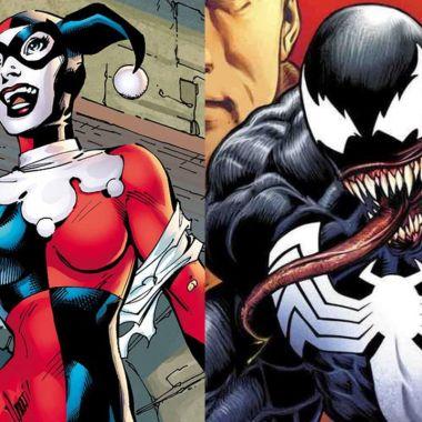 Artista crea un asombroso crossover entre Harley Quinn y Venom, creando un impactante villano
