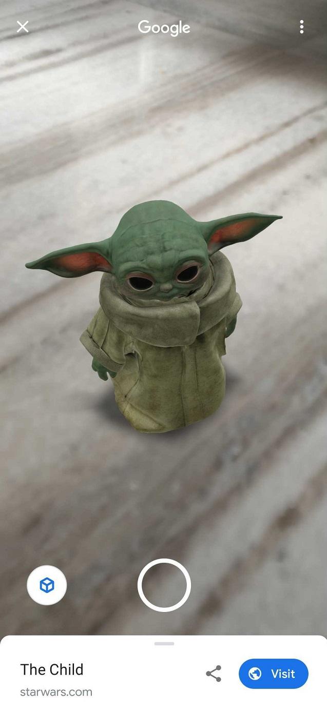 Baby Yoda tridimensional