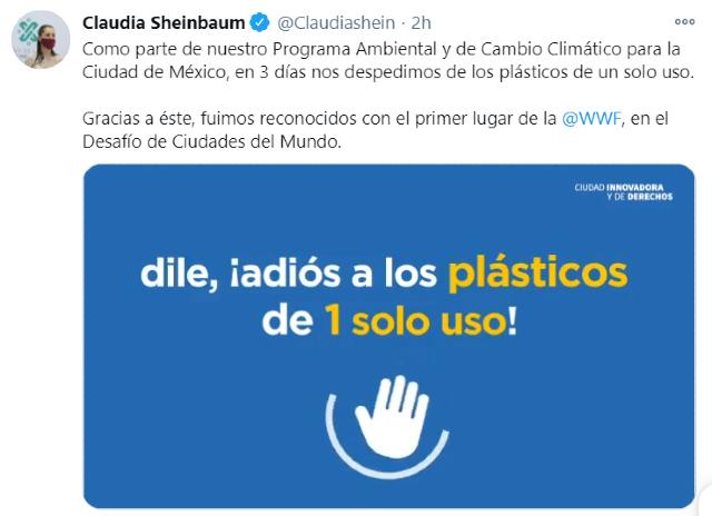 CDMX prohibirá plásticos de un solo uso en 2021