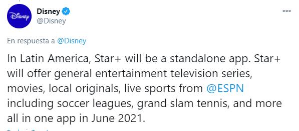 Disney anunciar Star para México en 2021
