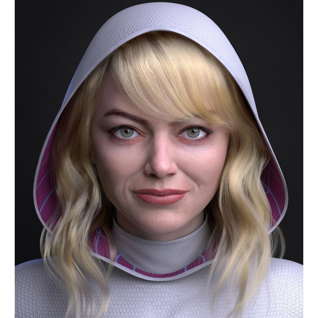 Marvel: Artista crea fan art realista imaginando a Emma Stone como Spider-Gwen