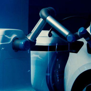 Volkswagen presentó su robot de carga para autos eléctricos