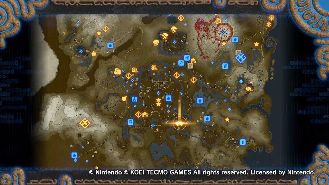 Hyrule Warriors Age of Calamity Mapa