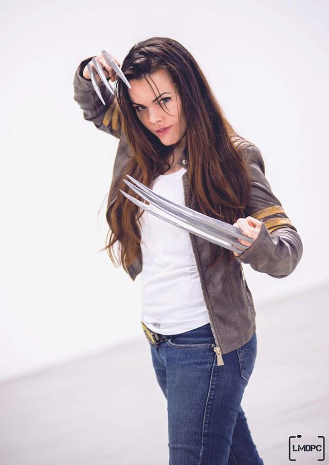 Marvel: Versión femenina de Wolverine en cosplay