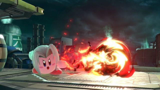 Así se ve Kirby al absorber a Sephiroth en Super Smash Bros. Ultimate