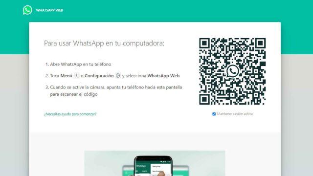 whatsapp web inicio de sesión
