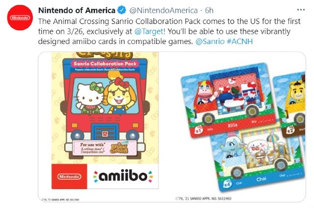 Animal Crossing y Sanrio lanzarán Amiibo Cards