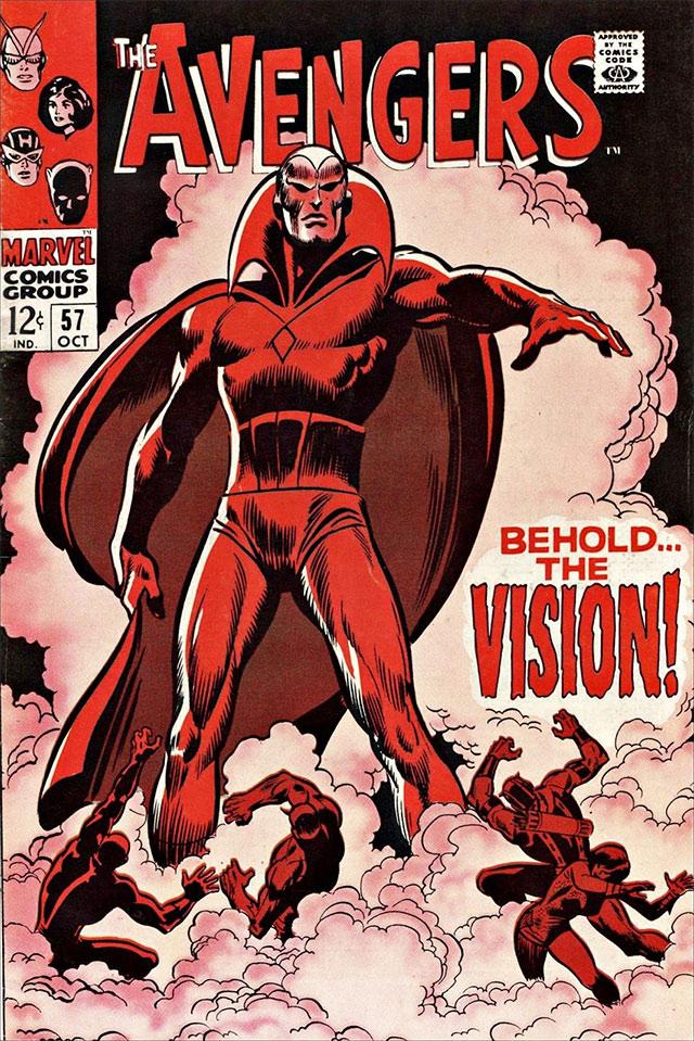 Avengers # 57, primera aparición de Vision