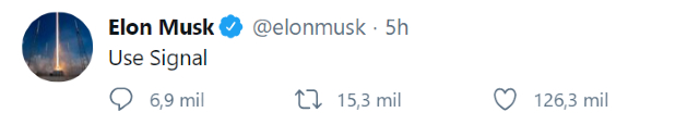 Elon Musk pide dejar WhatsApp para usar Signal