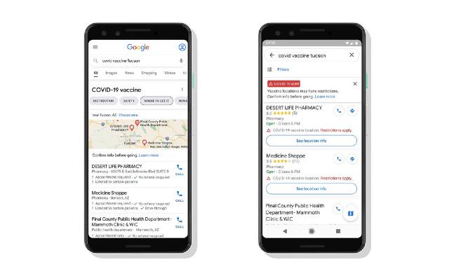 Google Maps mostrará centros de vacunación contra Covid-19
