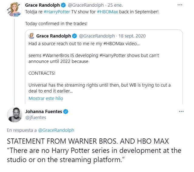Warner Bros desmiente rumores de serie de Harry Potter