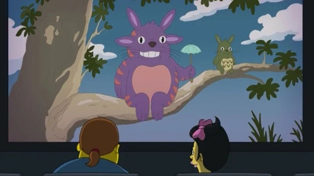 Mi vecino Totoro en Los Simpson