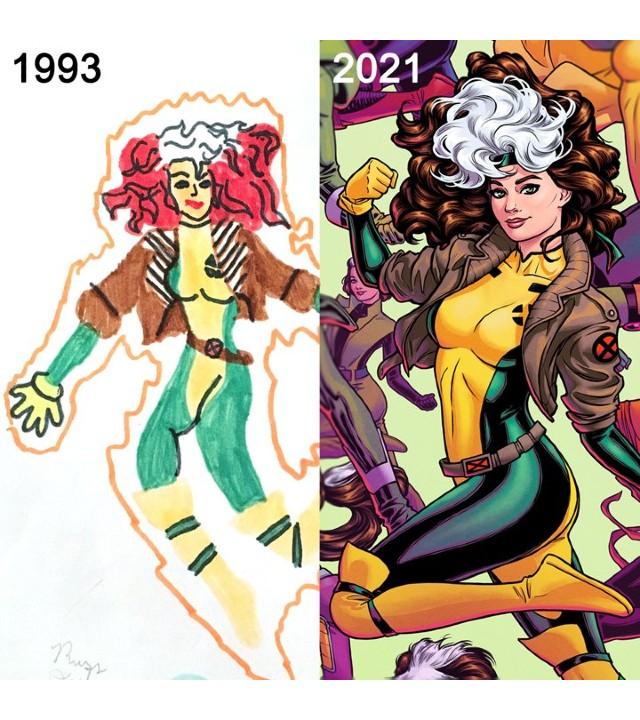 Marvel: Russell Dautermanes, artista de cómics celebra 28 años de dibujar a Rogue