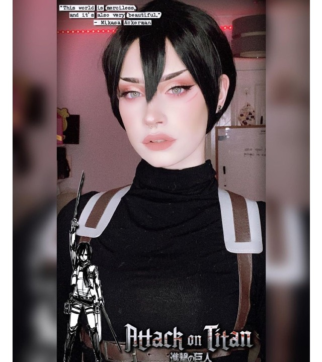Shingeki no Kyojin: Cosplayer le da vida a la sorprendente Mikasa Ackerman